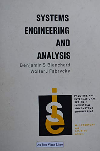 9780138816315: Systems Engineering and Analysis (Prentice-Hall international series in industrial and systems engineering)