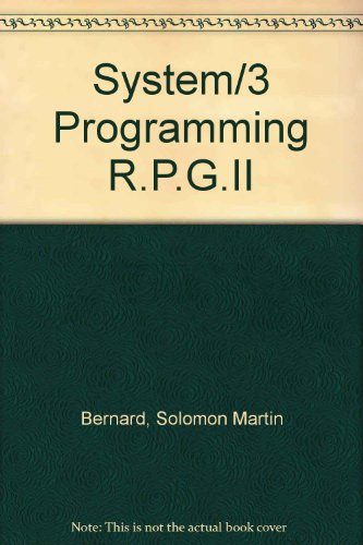 System/3 Programming - RPG II: Bernard, Solomon Martin