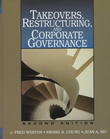 9780138891633: Takeovers, Restructuring and Corporate Governance