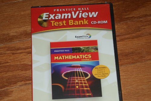 9780138900526: Prentice Hall Math Course 3 Examview Test Generator CD-ROM