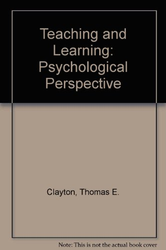 9780138940140: Teaching and Learning: Psychological Perspective