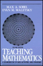 9780138941482: Teaching Mathematics: A Sourcebook of Aids, Activities, and Strategies, Second Edition