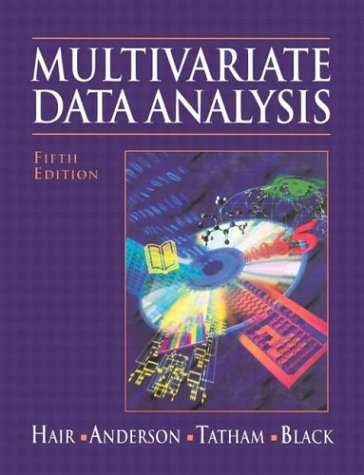 9780138948580: Multivariate Data Analysis (5th Edition)