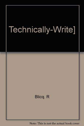 9780138988340: Technically-Write!