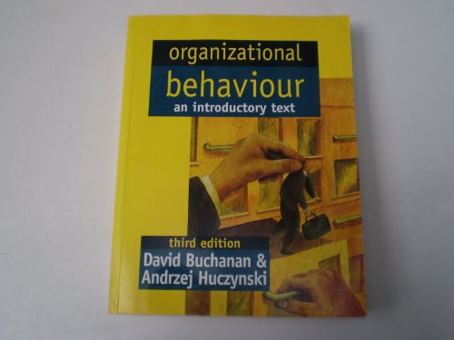 9780138994518: Organizational Behaviour: Textbook and Woekbook