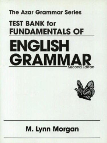 9780139010835: Test Bank for Fundamentals of English Grammar
