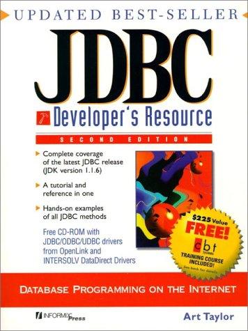 9780139016615: JDBC Developer's Resource (2nd Edition)