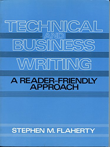 9780139019432: Technical and Business Writing: A Reader-Friendly Approach