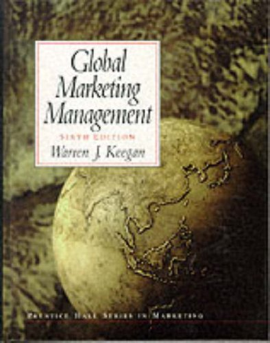 9780139030239: Global Marketing Management: International Edition (Prentice Hall Series in Marketing)