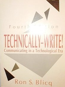 9780139044342: Technically-Write!: Communicating in a Technological Era