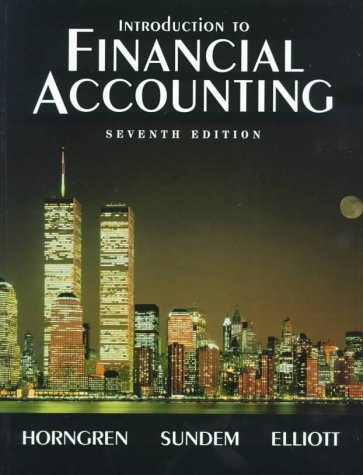 9780139059933: Introduction to Financial Accounting: United States Edition (Introduction to Financial Accounting, 7th ed)