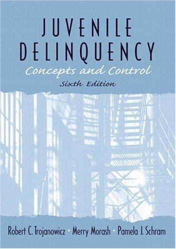 9780139067105: Juvenile Delinquency: Concepts and Control (6th Edition)