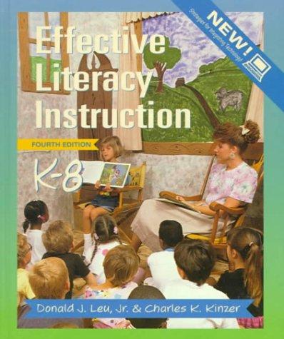 9780139075445: Effective Literacy Instruction, K-8