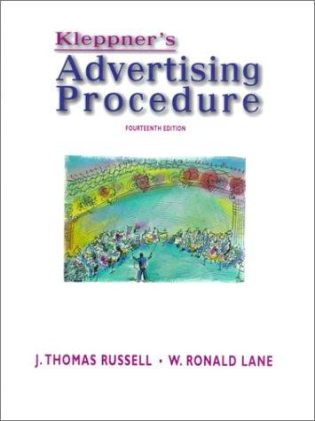 9780139085758: Kleppner's Advertising Procedure (14th Edition)