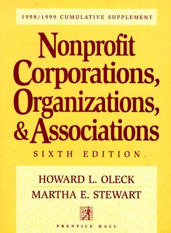 9780139110900: Nonprofit Corporations, Organizations, & Associations: 1998/1999 Cumulative Supplement (Nonprofit Corporations, Organizations and Associations Cumulative Supplement)