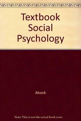 9780139121890: Textbook Social Psychology