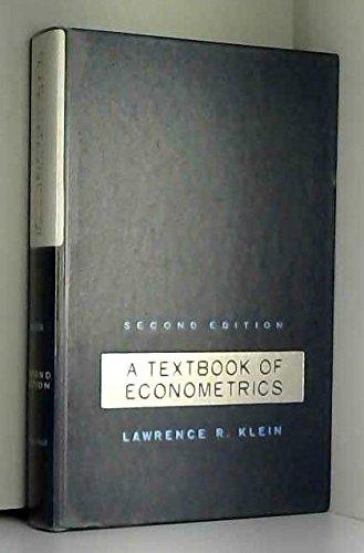 9780139128325: Textbook of Econometrics