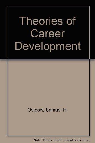 9780139134425: Theories of Career Development