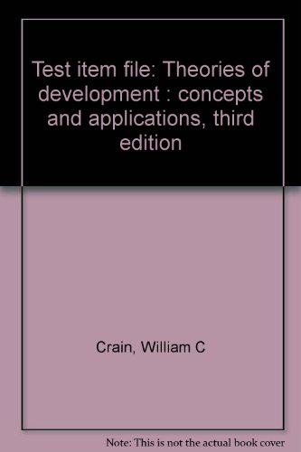 9780139135590: Test item file: Theories of development : concepts and applications, third edition