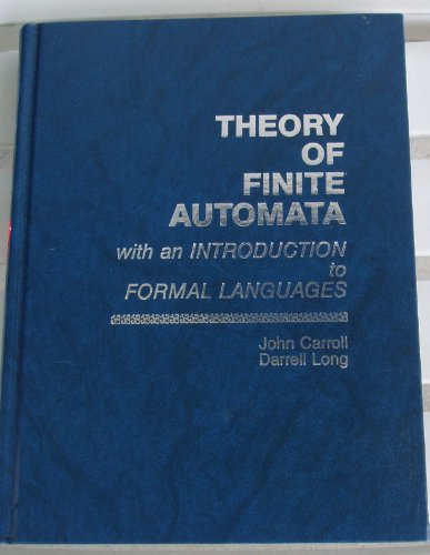 9780139137082: Theory of Finite Automata With an Introduction to Formal Languages