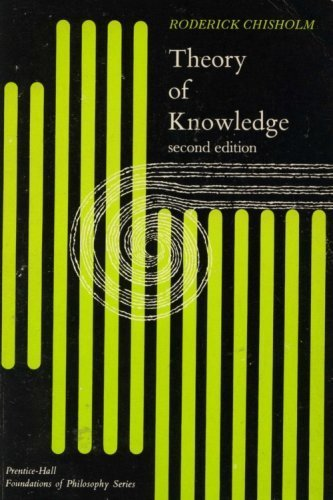 9780139141508: Theory of Knowledge (Foundations of Philosophy)