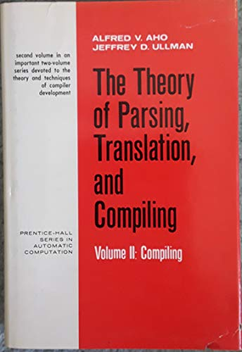 9780139145643: Compiling (Theory of Parsing, Translation and Compiling)
