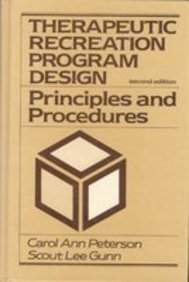 9780139148392: Therapeutic Recreation Program Design: Principles and Procedures