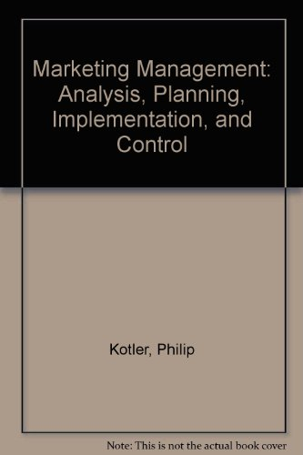 9780139149467: Marketing Management: Analysis, Planning, Implementation, and Control