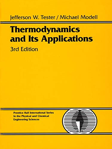 9780139153563: Thermodynamics and Its Applications (3rd Edition)