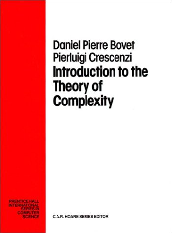 9780139153808: Introduction of the Theory of Complexity (Prentice Hall International Series in Computer Science)