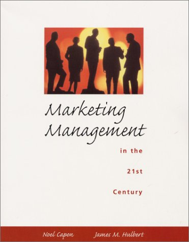 9780139156953: Marketing Management in the 21st Century