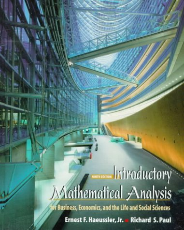 9780139157608: Introduction to Mathematical Analysis for Business
