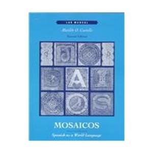 9780139158858: Mosaicos: Spanish As a World Language : Lab Manual