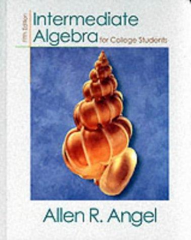 9780139163210: Intermediate Algebra for College Students (5th Edition)