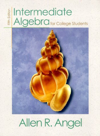 9780139163210: Intermediate Algebra for College Students (5th Edition)