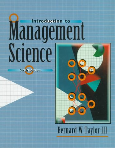 9780139181030: Introduction to Management Science (6th Edition)
