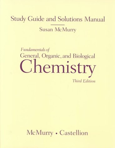 9780139185250: Fundamentals of General, Organic, and Biological Chemistry, 3rd edition (Study Guide and Solutions Manual)