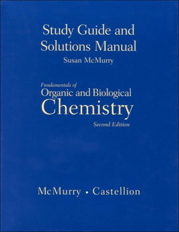 9780139194085: Study Guide and Solutions Manual for Fundamentals of Organic and Biological Chemistry, 2nd edition