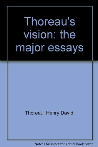 9780139194153: Title: Thoreaus Vision The Major Essays