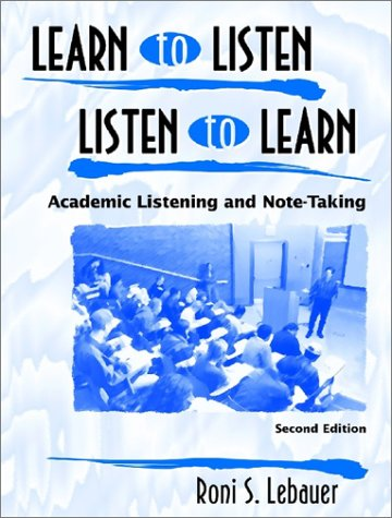 Learn to Listen, Listen to Learn Set: Roni S. Lebauer