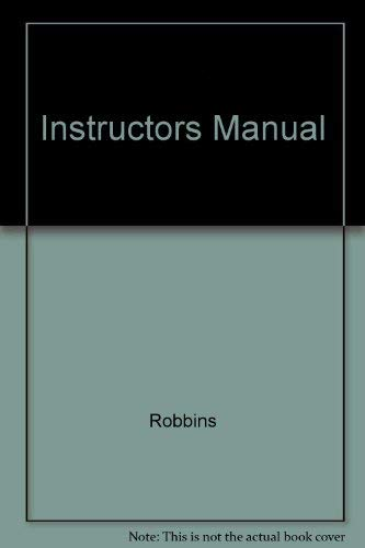 Instructors Manual (0139215115) by Robbins; Coulter