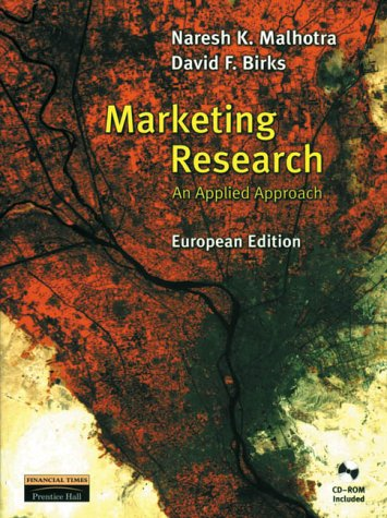 9780139229640: Marketing Research: European Edition: An Applied Orientation