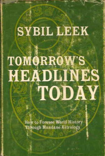 Tomorrow's headlines today (9780139247873) by Sybil Leek