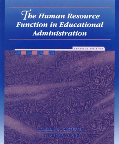 9780139271120: The Human Resource Function in Educational Administration (7th Edition)