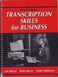 9780139280290: Transcription Skills for Business