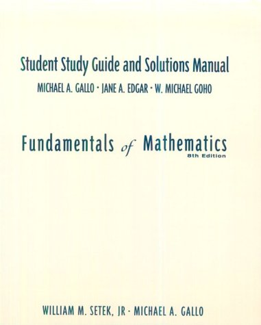 9780139315374: Fundamentals of Mathematics