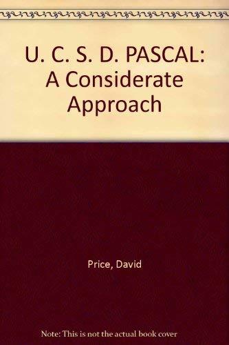 9780139354601: U. C. S. D. PASCAL: A Considerate Approach