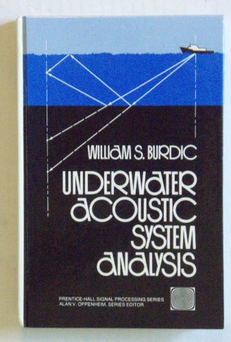9780139367168: Underwater Acoustic System Analysis (Prentice-Hall signal processing series)