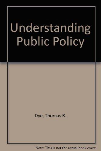 9780139369483: Understanding public policy