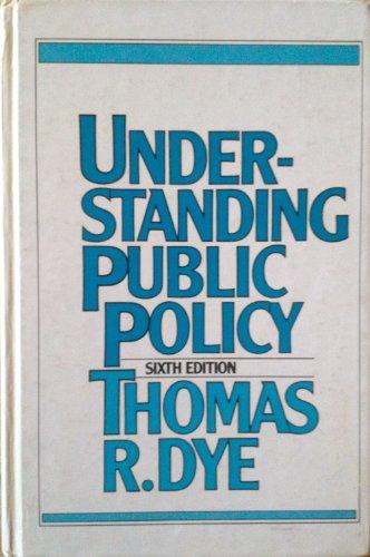 9780139369735: Understanding public policy